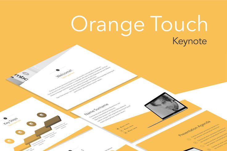 Template de Keynote Toque Laranja  O modelo Orange Touch oferece uma aparência profissional para os seus slideshows exclusivos da Keynote. Ele inclui 20 mestres e 2 tamanhos de slides, o que lhe permite escolher o melhor layout para suas informações. Os layouts modernos e polidos vão além dos meros backgrounds, fontes e balas: eles contêm gráficos, diagramas, tabelas e outros elementos de visualização de dados correspondentes.