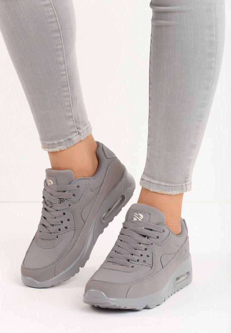 Szare Buty Sportowe Vintage Nilda Born2be Pl Air Max Sneakers Sneakers Nike Nike Air