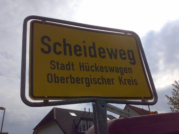 Scheideweg in Nordrhein-Westfalen.