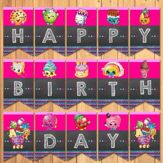 Shopkins Birthday Banner Shopkins Party Banner: 10 Best Shopkins Party Printables Images On Pinterest