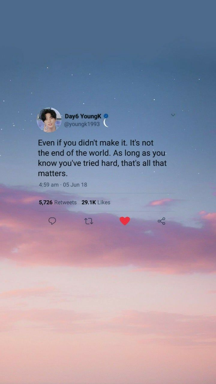 Day6 Lockscreen Homescreen Wallpaper Youngk Kpop Quotes Bts Lyrics Quotes Life Quotes Wallpaper