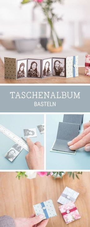 Kleines Fotoalbum selbermachen, DIY für ein Leporello, Geschenkidee für die beste Freundin / best friend giftidea: how to craft a mini photo album v…