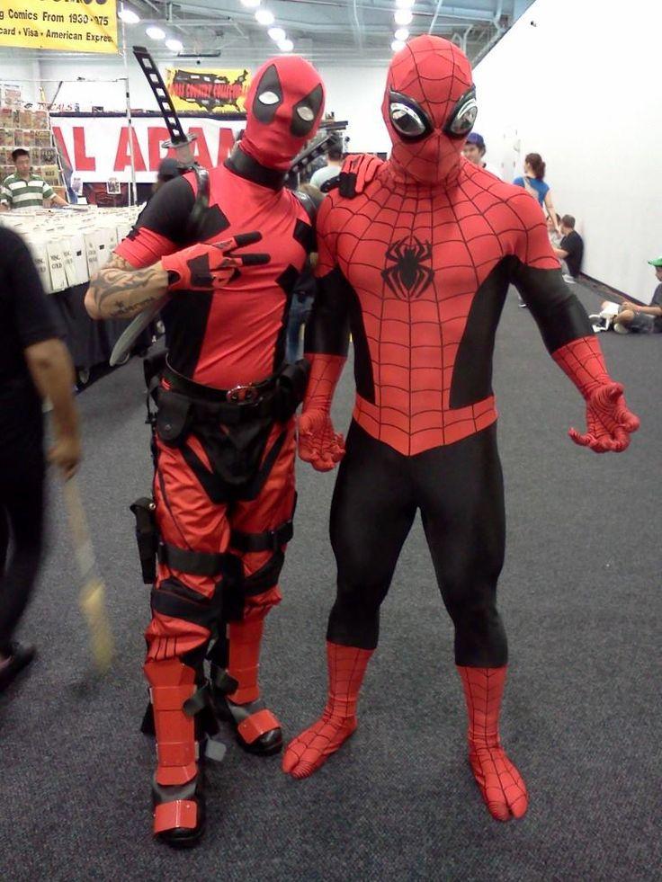 my deadpool and spiderman death and deadpool cosplay