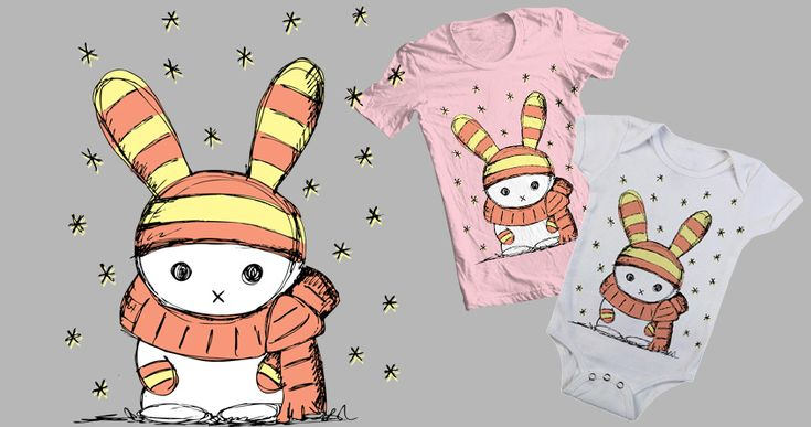 Winter Bunny :) by Sz.J.design on Threadless