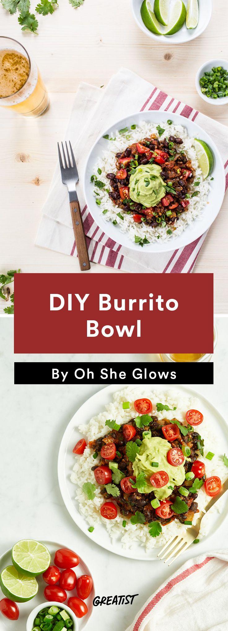 1. DIY Burrito Bowl #vegan #bowl #recipes http://greatist.com/eat/vegan-bowl-recipes-we-cant-get-enough-of