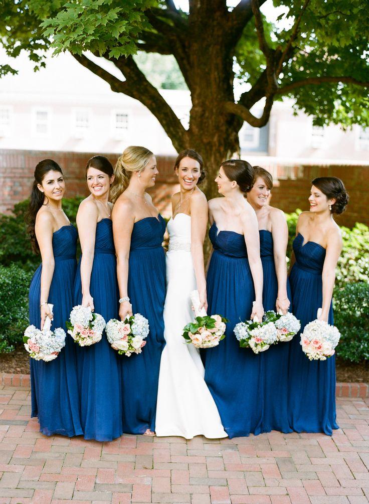 Photography: Graham Terhune Photography - www.grahamterhune.com Bridesmaids' Dresses: J Crew - www.jcrew.com/   Read More on SMP: http://www.stylemepretty.com/2014/12/02/classic-north-carolina-wedding-at-the-carolina-inn/
