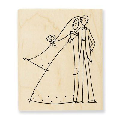 Cute for an embroidered wedding gift.