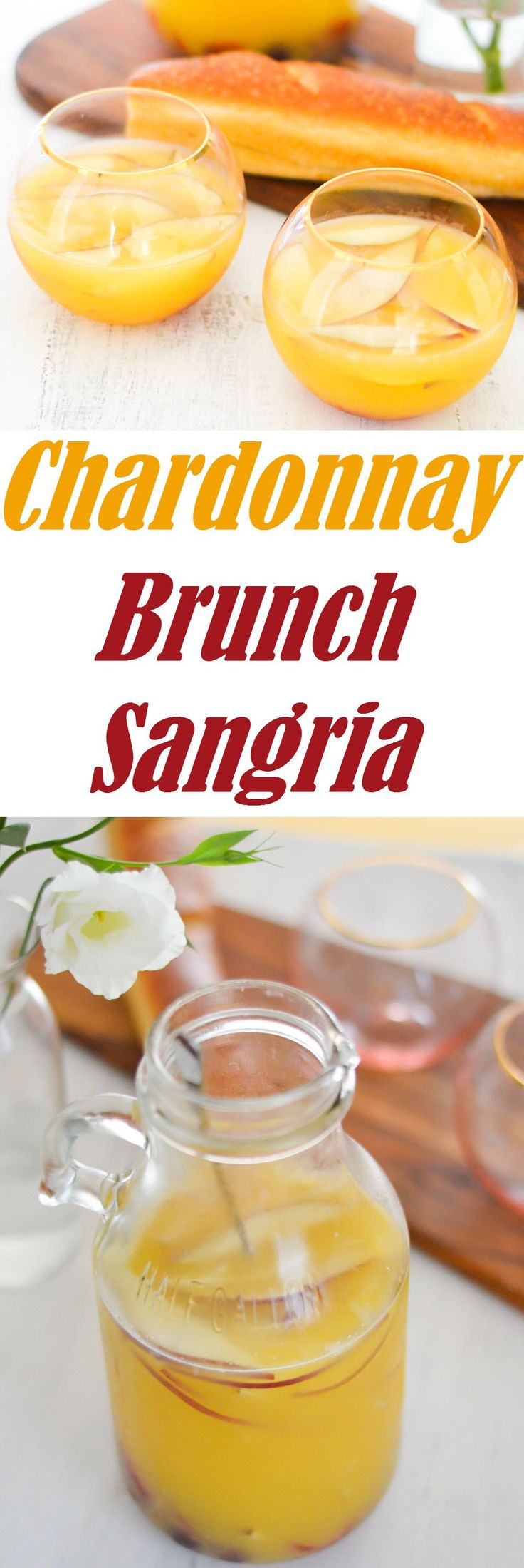 Delicious Sangria for Breakfast or Brunch. Made with Chardonnay, this white wine sangria is perfect for entertaining your friends! Premium wines delivered to your door.  Get in. Get wine. Get social.