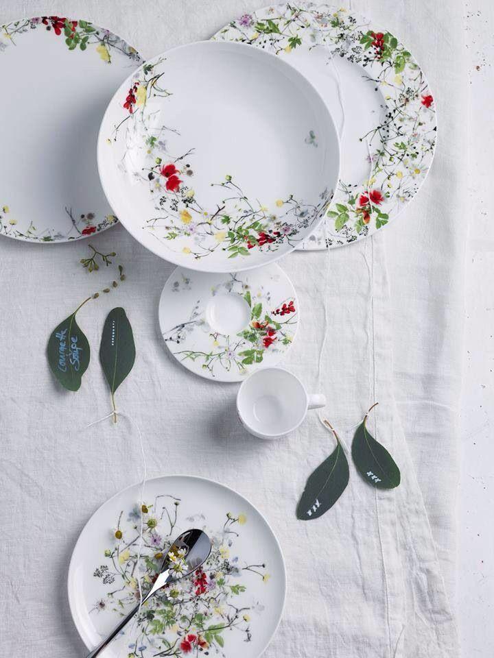 Tajemniczy Ogrod od Rosenthal. Az pachnie wiosna. Porcelana kostna ze wzorem kwiatowej łączki