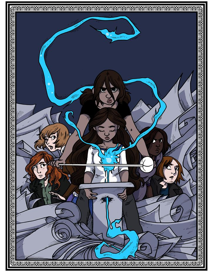 Namesake follows two sisters discovering their strange ability to enter and change the worlds of fairy tales through the power of their names, and their place in a centuries-long battle against the forces that seek to harness that power for sinister means.  More at namesakecomic.com!