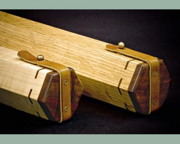 Hexagonal wooden rod tubes wooden fly rod cases for Fishing rod cases