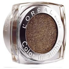 L'ORÉAL Color Infallible Eyeshadow - 012 Endless Chocolate This is one of my favourite eyeshadows! It has the creamiest consistency for a powder, is incredibly pigmented, velvety textured and ultra blendable. It's the most beautiful shade of brown, really warm toned that has very small gold flecks running throughout creating a gorgeous shimmer. It works excellently with a finger application too. I highly recommend this range of eyeshadows.