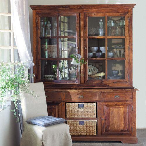 piattaia in massello di legno di sheesham l 180 cm lub ron On scritte in legno maison du monde