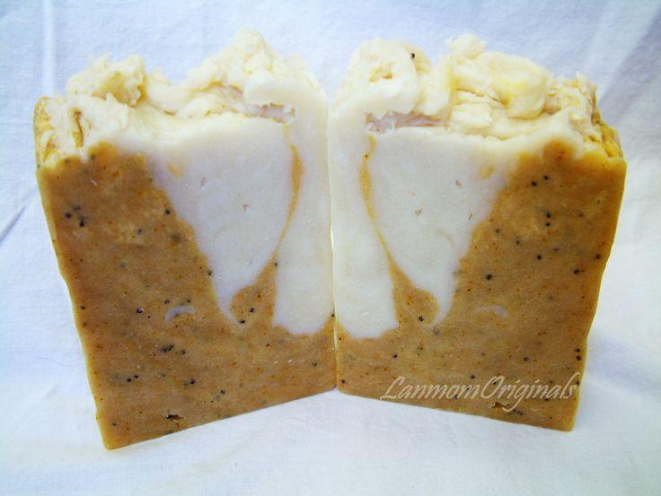 Lemon Poppyseed All Natural #Vegan Soap by Lanmom Originals at www.BountifulSoap.com