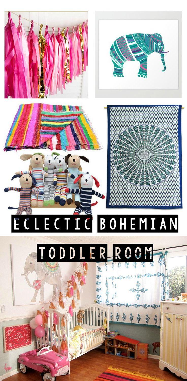 Get The Look: Eclectic Bohemian Toddler Room {bohemian nursery}