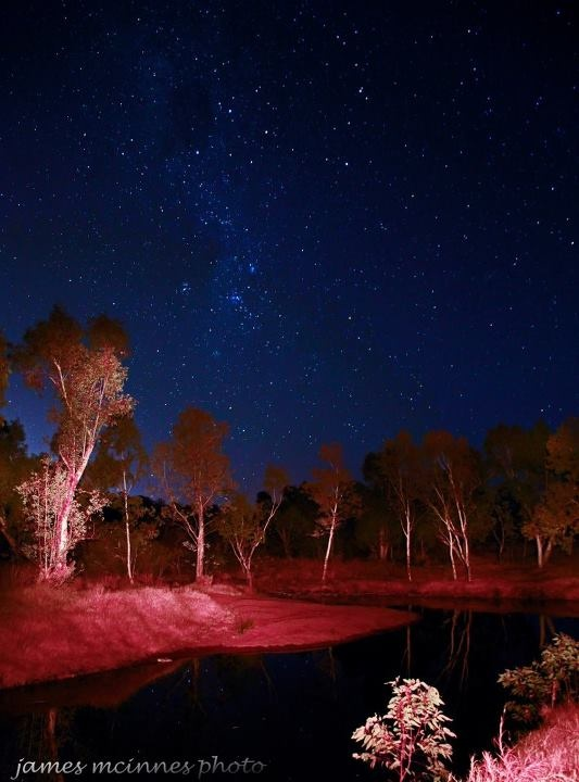 Waterhole near Alice Springs - Northern Territory - Australia - photo by James McInnes