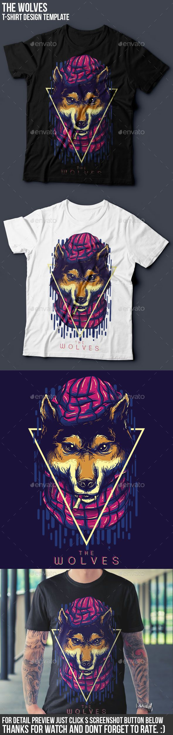 Design t shirt graphics online - The Wolves Part Iii T Shirt Design
