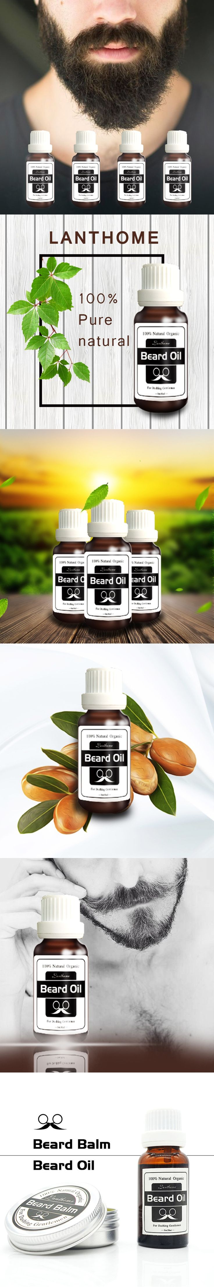 Men Beard Grooming Product Facial Hair Care Growth Moisturizing Conditioner Oil
