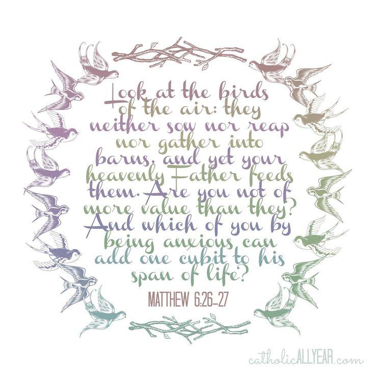 Catholic All Year: Matthew 6:25-27