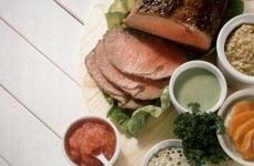 Serve your ribeye roast with a variety of dipping sauces like horseradish.