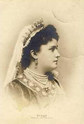 Draga, Queen of Serbia murdered in   Belgrade, 1903 Aged 39 During Serbian Uprising