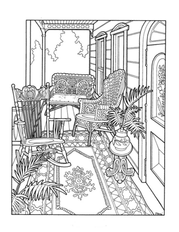 104 best interior room art - Colouring Pages images on Pinterest ...