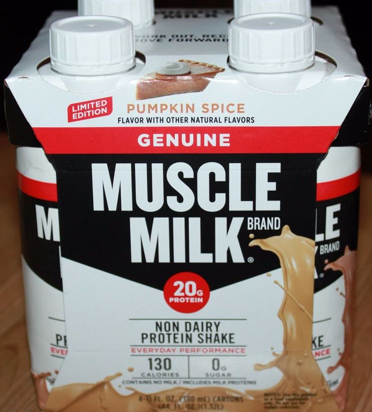 Muscle Milk Limited Edition Pumpkin Spice Ready To Drink Protein Shake 4 Bottles #MuscleMilk