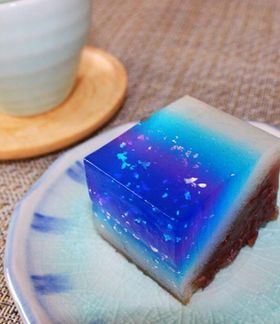 Milky Way Wagashi. One of my favorite things about wagashi: it is edible art. You can make it as beautiful and intricate as you want.