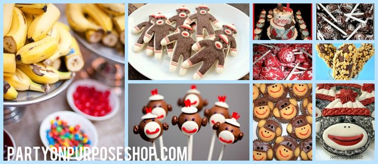 Sock Monkey Party Ideas: Food and Drink