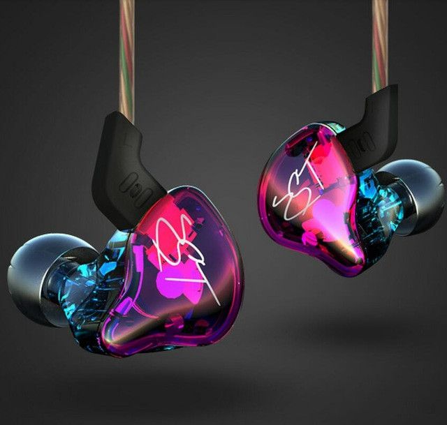 KZ ZST Colorful Balanced Armature With Dynamic In-ear Earphone BA Driver Noise Cancelling Headset With Mic Replacement Cable