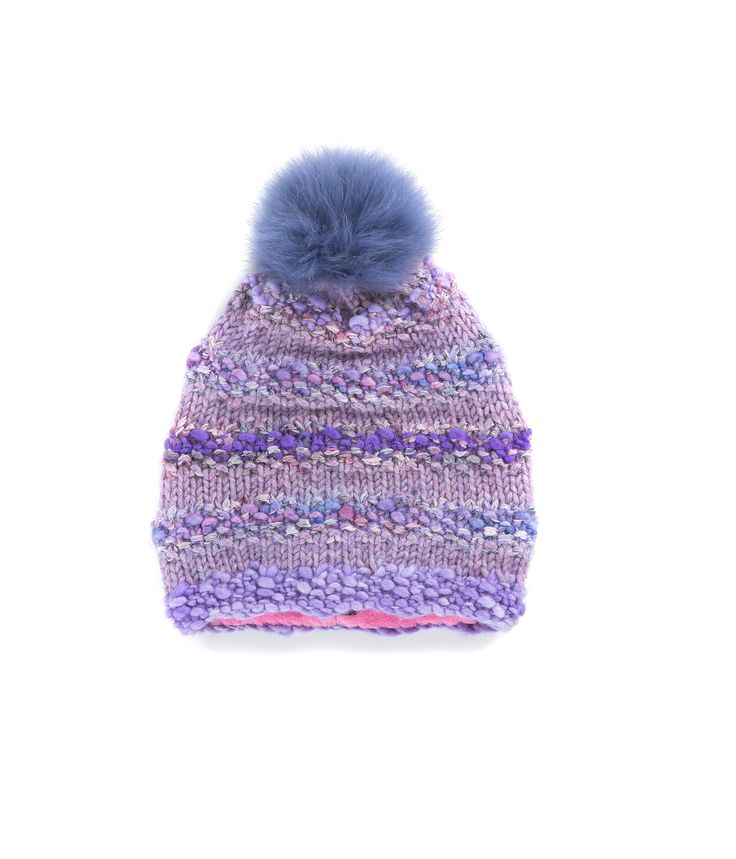 KNIT BEANIE CAP FOR WOMEN in Violet - The GŌBLE Women Knit Beanie Cap is a luxurious soft blend of merino wool, alpaca, silk and mohair   HAND KNIT IN CANADA    GOBLE.CA
