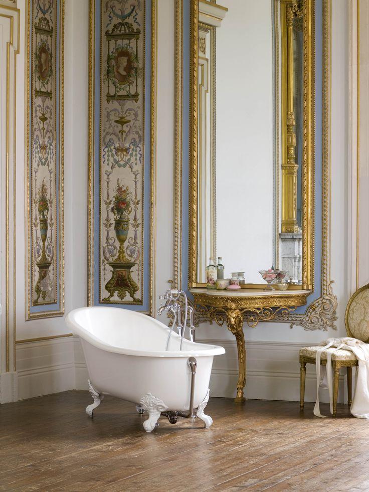 Free Standing Bathtub In A Majestic French Bathroom