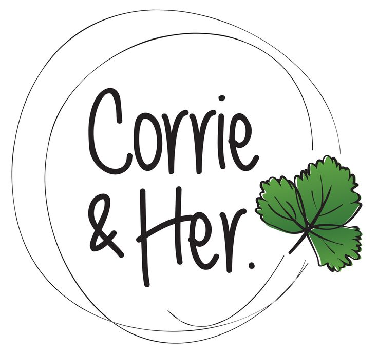 Logo Design for a Parent company called Corrie and Her a play on the word Coriander. By Imagine If Creative Studios