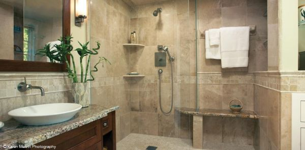 Marble tile shower stones most suitable in your home for Small bathroom natural