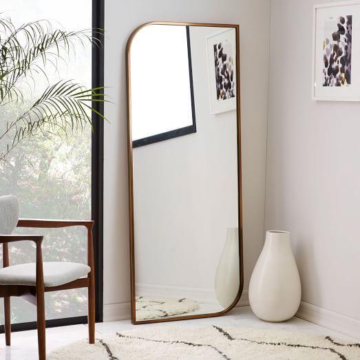 Metal Framed Floor Mirror - Rose Gold $499
