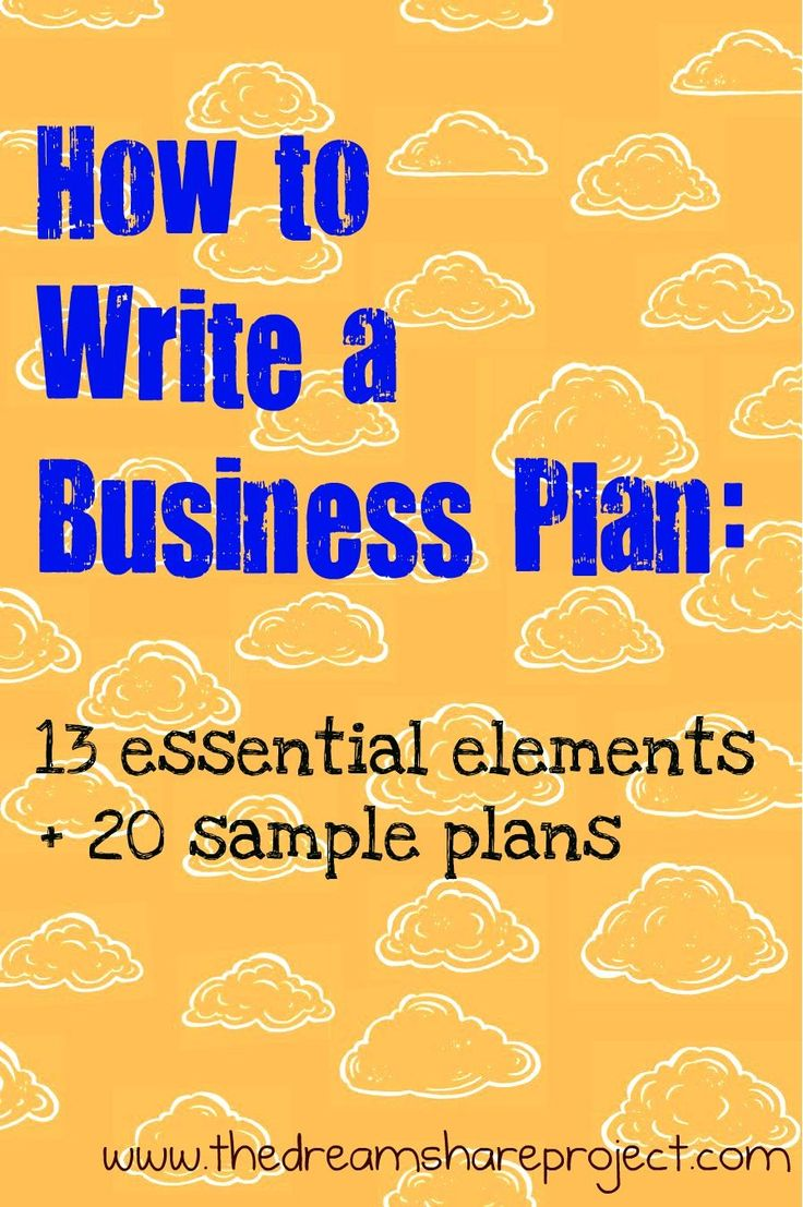 *Learn More About The 13 Essential Elements On How To Write A Business Plan  And Use The 20 Sample Plans For More Information.