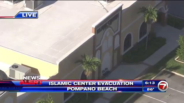 POMPANO BEACH, FLA. (WSVN) - Police evacuated the Islamic Center of South Florida in Pompano Beach after, authorities said, a bomb threat was called in,...