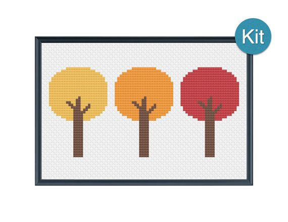 Cross Stitch Kit  borden van de herfst door KaitsCraftingCorner