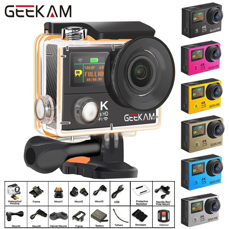 GEEKAM H3R/H3 Action Camera Ultra HD 4K/30fps 20MP WiFi 2