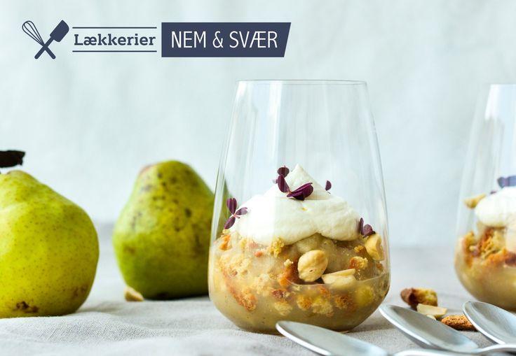 Lækker æbletrifli med pærer og syrlig råcreme | Bobedre.dk