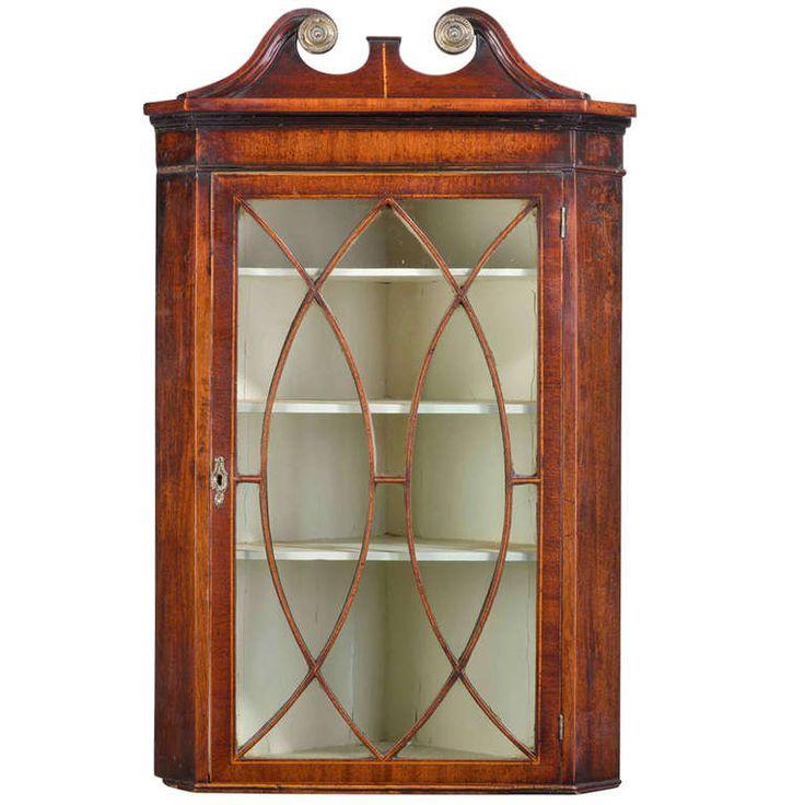 corner furniture pieces. george iii period mahogany corner cupboard furniture pieces