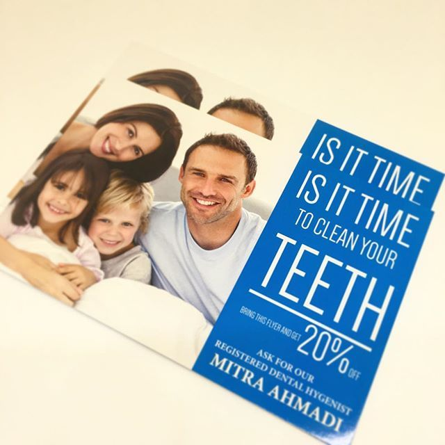 Post Cards Design and Print [Dentistry]