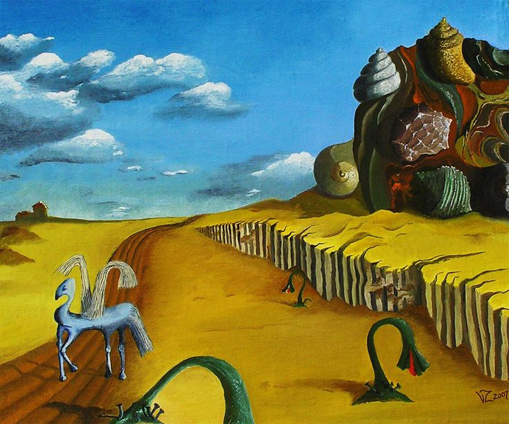 """Wojciech Zieliński  Surrealizm """"Skrzydlaty"""""""