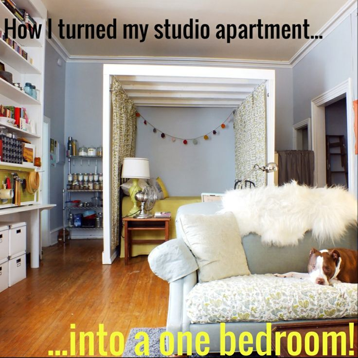 How I Turned My 480 Sq Ft Studio Into A One Bedroom Apartment   Before And  After Tour!