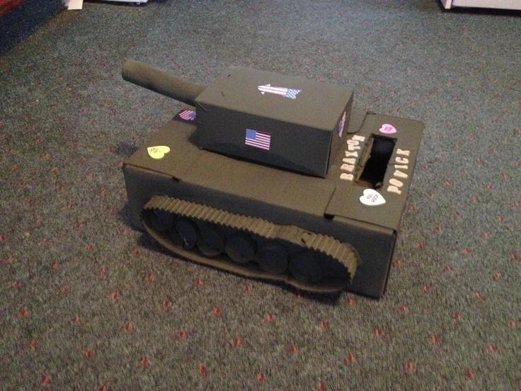 My Son S Valentine S Box An Army Tank Valentine Boxes
