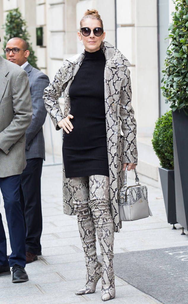 Celine Dion from The Big Picture: Today's Hot Photos  Fierce in France! The songstress rocks another outfit while out and about in Paris.
