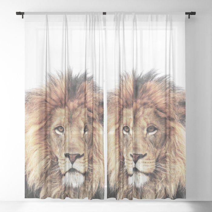 Lion King Sheer Window Curtains Dormroomdecor Curtains Best