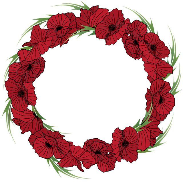 Colorful Clip Art For The Fall Season: Fall Flowers Wreath