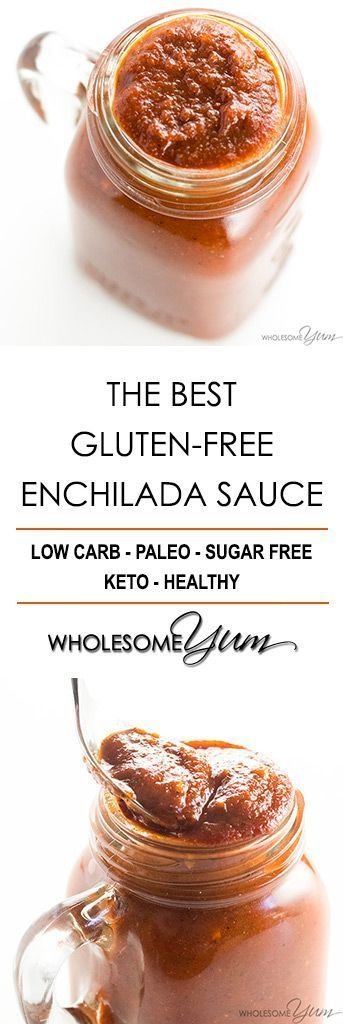 The Best Easy Gluten-free Enchilada Sauce Recipe from Scratch - Learn how to make homemade enchilada sauce in just 10 minutes! This easy recipe is naturally gluten-free and uses common ingredients. #paleo #glutenfree #mexican