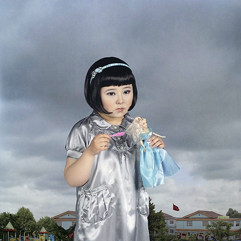 young miss swan, anyone? Yu Xiao was born in Zi Bo, Shandong, China. She received her M.A. in Photography from China Central Academy of Fine Arts in 2009. In this work, Never Grow Up, Yu Xiao digitally created child versions of herself as a commentary on China's one child rule and the intense focus on childhood that results.